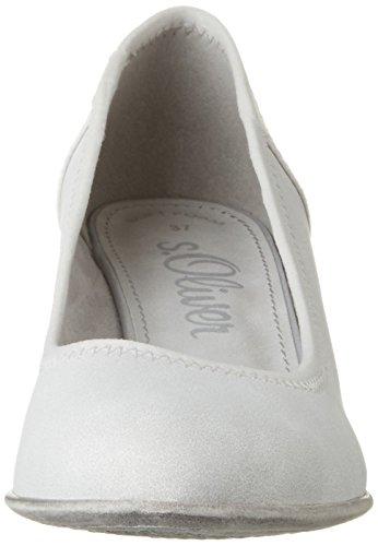 s.Oliver22301 - Scarpe con Tacco Donna Bianco (Cloud 807)