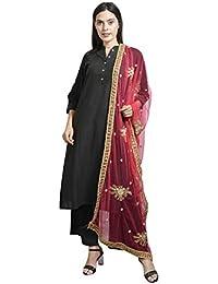 Aleena Women's Tissue Net Designer Dupatta With Baadla Work