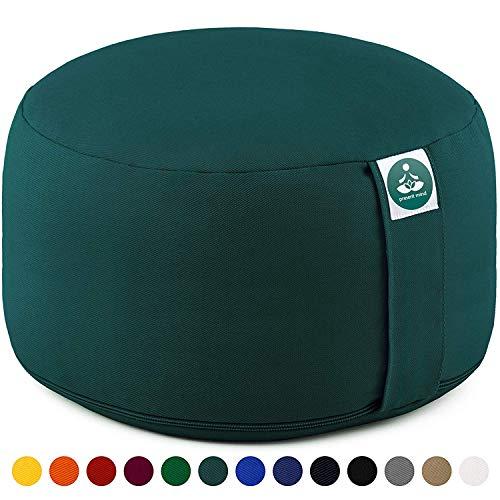 Present Mind Yogakissen Meditationskissen Extra Hoch - Sitzhöhe 20cm - Waschbarer Bezug aus Baumwolle Hohe Reißverschluss