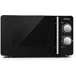 Homgeek Four à micro-ondes, Plan de travail 20L, 700 W, Noir
