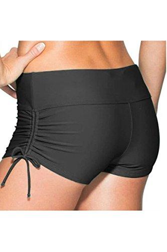 de-la-mujer-solido-swiming-corto-coverup-ajustable-lazos-mujer-negro-large