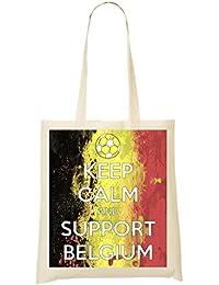 1GD Keep Calm Support Belgium Bolso De Mano Bolsa De La Compra