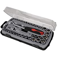 Silverline 633754 Coffret compact 39 pièces de clé à douilles 39 pcs