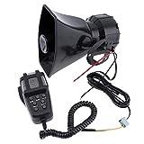 takestop® Sirena CENTRALINA HW_1005 7 CANALI 100W Waterproof Allarme con Microfono MEGAFONO Diversi Toni Controllo Emergenza Auto 12V