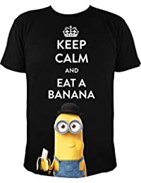 "Camiseta de Minions Kevin: ""keep calm and eat a banana"" (XL)"