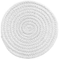 UPKOCH 1 Pieza de 7 09 Pulgadas de Diámetro Utensilios de Cocina de Algodón Taza de Tetera Resistente Al Calor Posavasos (Blanco)