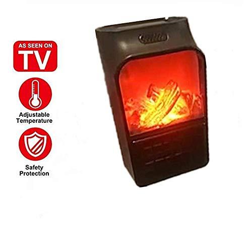 Heizlüfter,900W Instant Heater-Heizlüfter Keramik-Heizung Mini Heizung elektrische Steckdosen Thermostat Elektrische mit Timer Heizlüfter, Einstellbarer Thermostatr (Schwarz 4) (Steckdose, Elektrische Heizung)