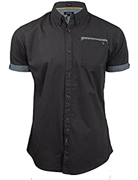 Firetrap - Camisa casual - Básico - con botones - Manga corta - para hombre