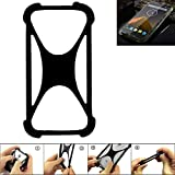 K-S-Trade Handyhülle für Blackview BV 5000 Schutz Hülle Silikon Bumper Cover Case Silikoncase TPU Softcase Schutzhülle Smartphone Stoßschutz, schwarz (1x)