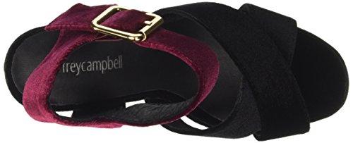 Jeffrey Campbell 16f021 Velvet, Sandali con Tacco Donna Multicolore (Black/Wine)