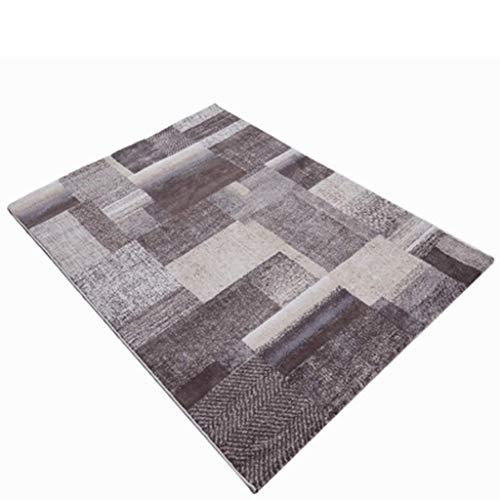 Teppiche JXLBB Wohnzimmer Geometrie 0.8x1.5m Ausgangs-Polypropylen-Fußmatten-Ausgangs-Tür-Veranda staublösende verschleißfeste Matte verwendbar für Gebrauch mit Fußbodenheizung