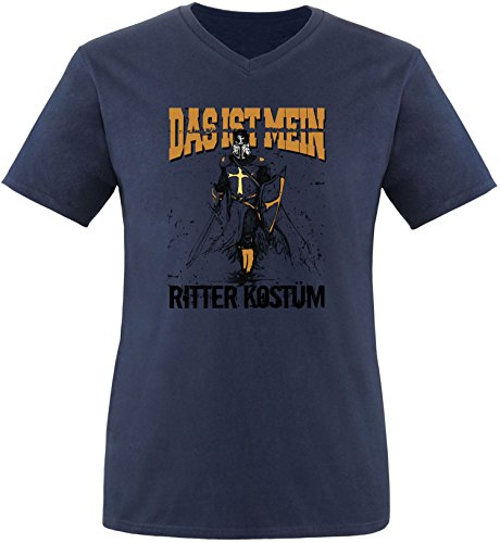 (EZYshirt® Das ist miein Ritter Kostüm Herren V-Neck T-Shirt)