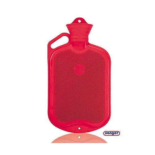 Sänger Wärmflasche mit Griff, 2 Liter, Wärmeflasche, Wärmetherapie, Wärmekissen -