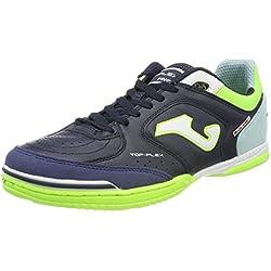 Joma TOP FLEX 716 Indoor - Scarpe Calcetto Uomo - Men's Futsal Shoes - TOPW.716.IN (42.5, navy-turquoise)