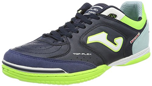 Joma TOP FLEX 716 Indoor - Scarpe Calcetto Uomo - Men's Futsal Shoes - TOPW.716.IN (40.5, navy-turquoise)