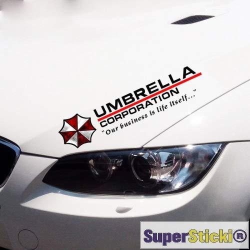 Umbrella Corporation Sponsoraufkleber ca 30 cm Tuning Racing Rennsport  Renndecal Aufkleber Sticker Decal aus Hochleistungsfolie Aufkleber
