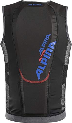 ALPINA Kinder JSP 3.0 Junior Vest Protektor, Black-Blue, 116/122