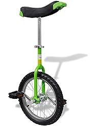 vidaXL Monocycle ajustable vert