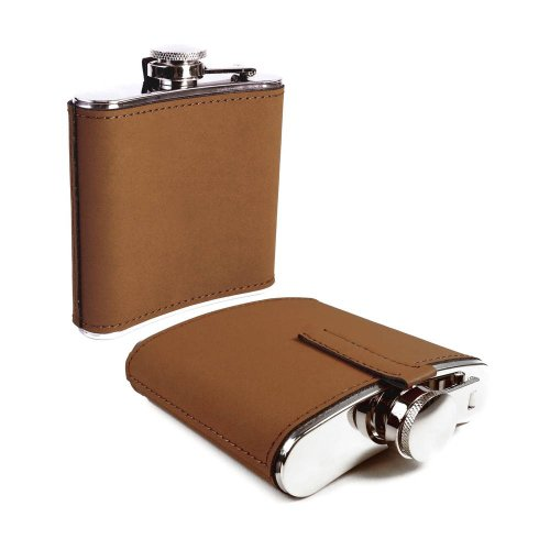 tuff-luv-evolve-hip-flask-6oz-steel-leather-brown-silver-i13-12