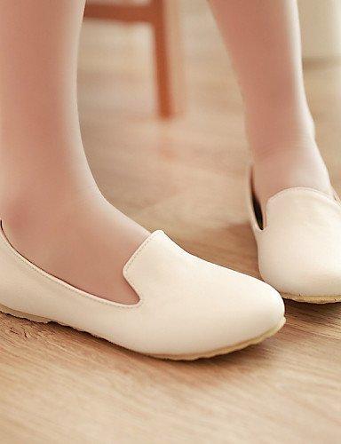 ShangYi gyht Scarpe Donna-Ballerine-Casual-Punta arrotondata-Piatto-Finta pelle-Nero / Verde / Rosso / Bianco White