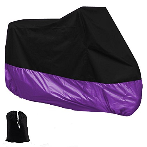 HOUSSE-BACHE-MOTO-Couvre-Moto-velo-VTT-scooter-Taille-XL-245cm-violet-noir-protection