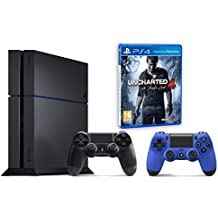 Pack PS4 500Go + 2ème manette bleue + Uncharted 4: A Thief's End