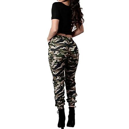 Pantalon Militaire Motif Camouflage,OverDose Femme Imprimé Casual Loose Taille Haute Trousers