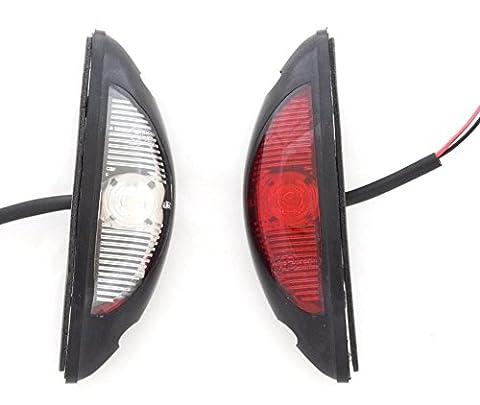 2x LED vertical tracé côté Marqueur lumière rouge 12V 24V Blanc pour SUV Camion camping-car caravane remorque hors-route Châssis