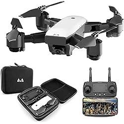 Xmiral Drones smrc s20 720p 120 ° Grand Angle Altitude - rc Jouet Quadcopter repliables Avion (Blanc)