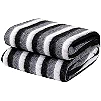 Generic Polyester & Polyester Blend 500 TC Blanket (Single_Black And White)