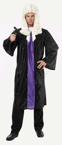 Richter Robe & Kragen Kostüm (Robe Richter Erwachsene Kostüme)