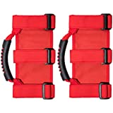 VORCOOL 1 Pair Keep Balance Safety Stable Non Slip Hand Grip Car Handle For Jeep Wrangler (Red)