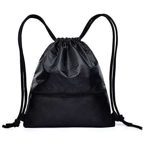 rauen Wasserabweisende Gymbag Große Kordelzug Rucksack String Bag Cinch Sack Gymsack Sackpack Für Einkaufen Sport Yoga ()