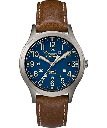 Timex tw4b11100 Expedition Scout – Reloj unisex (de tamaño medio marrón 36 mm, de acero inoxidable)