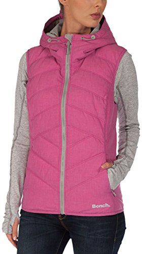 Bench Damen Jacke Steppweste Brightsky rosa (Rose Violet) Small