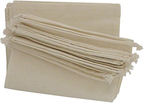 100 Prozent Baumwolle Beutel Mit Kordelzug, Stoffsack Mit Band Zum Zuziehen - Organisch Und Natürlich - (25x38, Weiss) (Damen-schuhe Ebay)