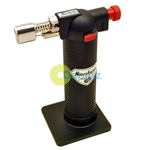 Daptez Piezo Selbstzündende Butan Lötlampe Gas Taschenlampe Löten Schmuck (Stehend Taschenlampe)