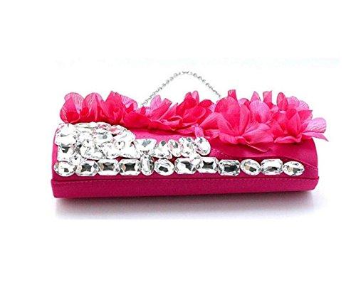 Frauenblumenabendessenbeutel Abendbeutel Nette Handtasche Red