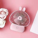 TianranRT★ Ventilatore portatile ricaricabile USB alimentato Ventola di raffreddamento piccolo ventilatore usb del fumetto che carica il grande desktop di luce notturna del vento
