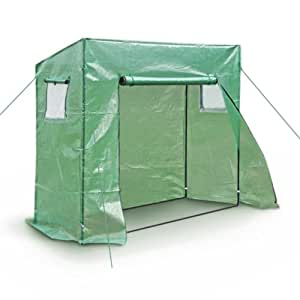 Walk-In Greenhouse Coldframe Foil Tent Growing House with 2 Windows 200 x 77 x 169 cm