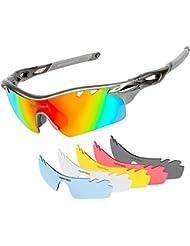 Sonnenbrille TSAFRER Polarisierte Sportbrille mit 6 Weckselobjektiven