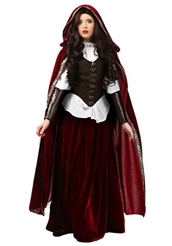 Deluxe Red Riding Hood Plus Size Fancy dress costume 1X (Red Riding Hood Kostüm Plus)