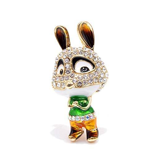 CCJIAC Strass Bunny Brosche Pins Für Frauen Karton Tier Kaninchen Broschen Nette Kleine Broches Gut - Kreative Karton Kostüm