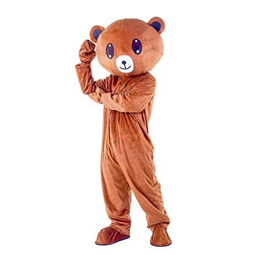 Braun Erwachsene Kostüm Für Bär - I BIMS-LICHT China bär-Kostüm, Ganzkörper Tier-Kostüme, Tier-Kostüme, Geschenk Erwachsene, 155-185cm, Verkleidung, Karneval, Halloween, Fasching, Geburtstags-Geschenk (A, 175-185cm)