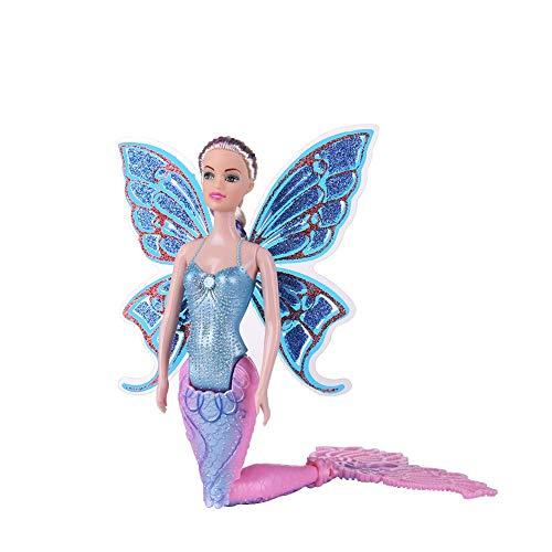 Klassische Matte Lippenstift (Meerjungfrauenpuppe für Mädchen, magische klassische Meerjungfrauen-Spielzeug mit Schmetterlingsflügeln 400.00 * 170.00 * 170.00)