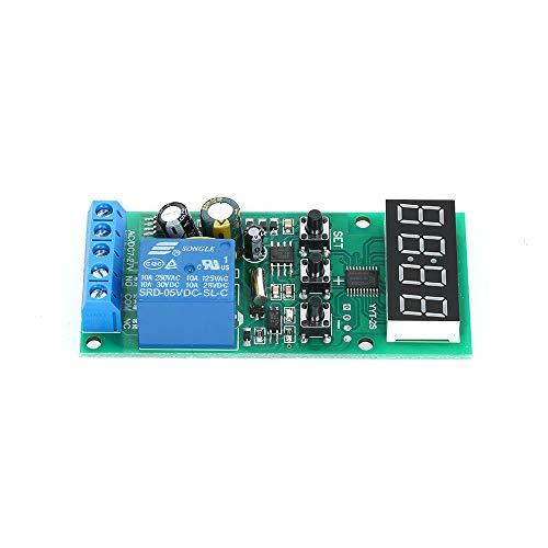 KKmoon 7~27V DC/AC Zeit Verzögerung Relaismodul, Timer Steuerung Clock Controller Verzögerungsrelaismodul, Einstellbares Dual Display Verzögerungsmodul mit der Zeitzonenplatine -