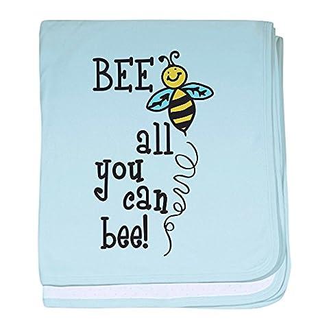CafePress–All you can Bee Baby Decke–Baby Decke, Super Weich Für Neugeborene Wickeldecke, baumwolle, himmelblau, Standard