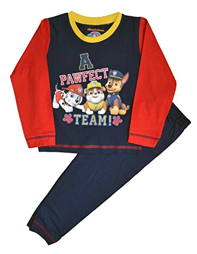 Paw Patrol Jungen Schlafanzug rot rot Gr. 18-24 Monate, rot