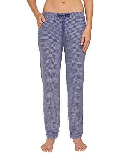 Schiesser Damen Schlafanzughose Mix & Relax Jersey Hose lang, Gr. 46, Grau (Hellgrau 204)
