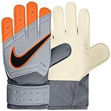 Nike GK JR Match - Guantes de portero para niño, color gris/naranja, talla 4